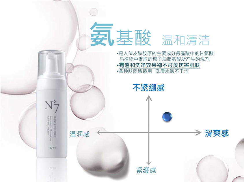 N+7氨基酸补湿洁面慕斯