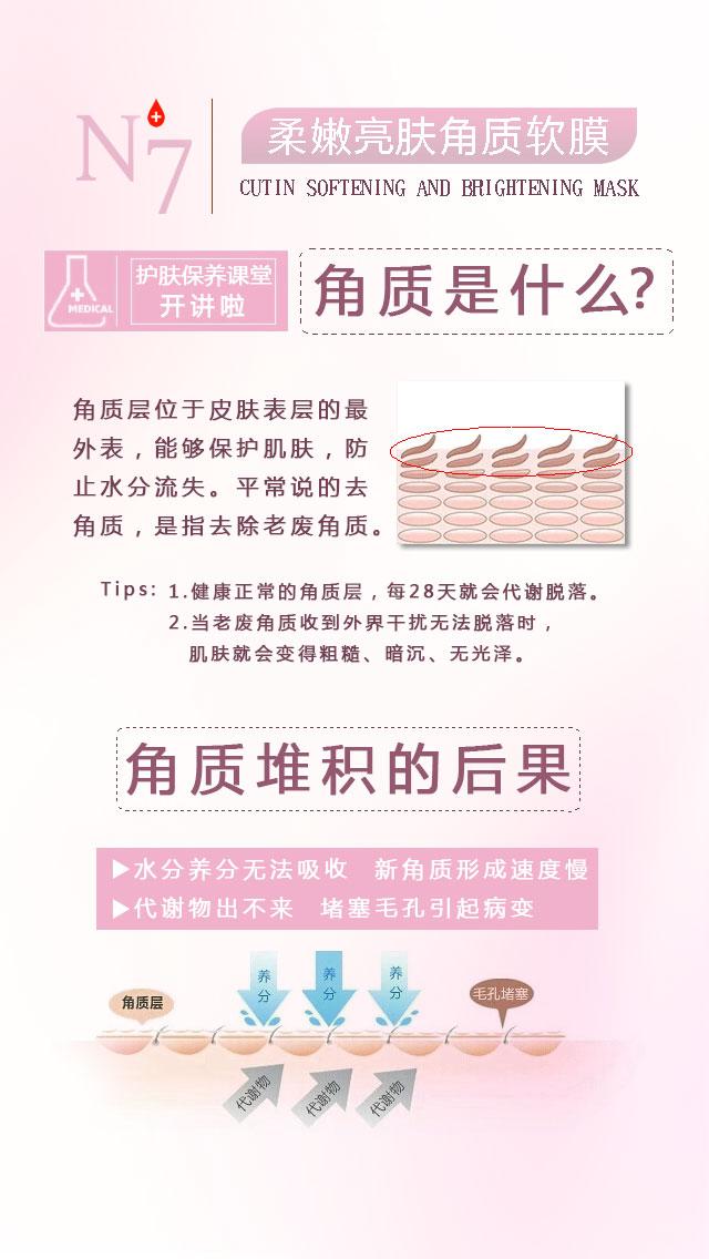 N+7柔嫩亮肤角质软膜 史上最温和的角质护理产品